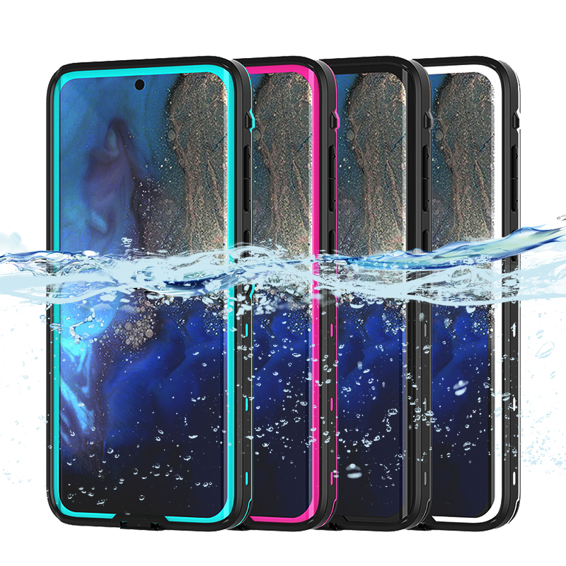 IP68 Certified Waterproof Shockproof Dustproof Scrach Resistant Cases Full-Body Rugged Holster for Galaxy S20 black S20 5G 6.2 Samsung Galaxy S20 Waterproof Case With Built-in Screen Protector