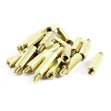 20 Pcs Brass Hex Standoff Spacer M4x20mm Female to M4x6mm Male M4 20+6mm 5 50pcs hex male to female m2 m2 5 m3 m4 m5 brass standoff spacer hexagonal stud spacer hollow pillars