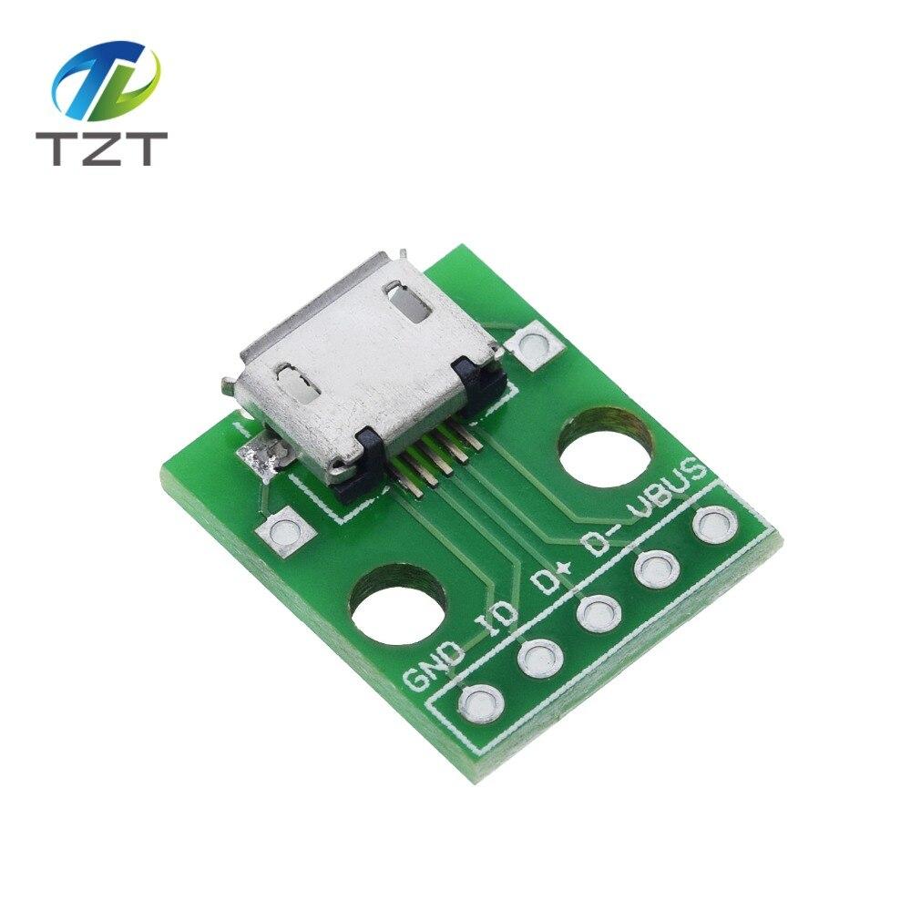 10 Stücke Usb Zu Adapter Konverter 4 Pin Für 2,54MM Pcb Board Netzteil ru