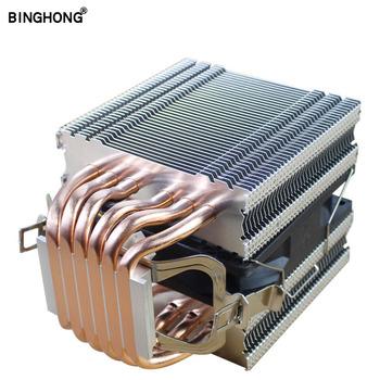 Czysta miedź 6 rury ciepła chłodnicy CPU 90MM 4PIN PWM cichy wentylator dla INTEL I3 I5 I7 I9 AMD3 AM4 2011 X79 X99 płyta główna wentylator procesora tanie i dobre opinie NoEnName_Null CN (pochodzenie) INTEL AMD X79 X99 2 5 W Łożysko olejowe 50 000 godzin 2000±10 RPM 18dBA 38CFM 4 LINIE