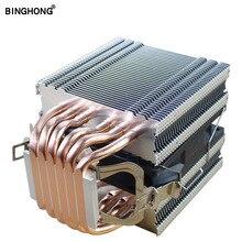 Pure copper 6 heat pipe CPU radiator 90MM 4PIN PWM silent fan for INTEL I3 I5 I7 I9 AMD3 AM4 2011 X79 X99 motherboard CPU fan