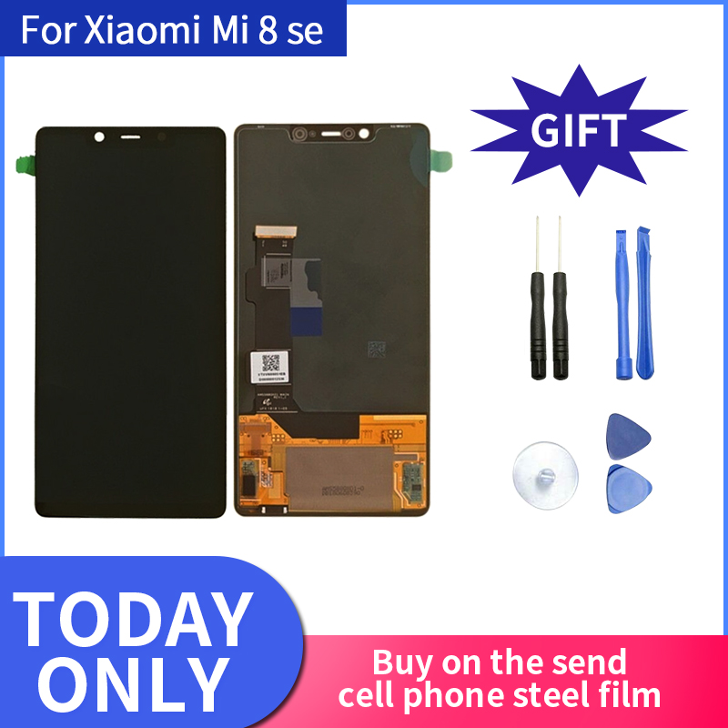 For Xiaomi Mi8 SE Mi 8 SE MI8SE Super Amoled LCD Screen Display Touch Screen Digitizer Frame For Mi 8SE LCD 5.88