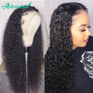Asteria Curly Hair Wig 13x6 Lace Front Human Hair Wigs 13x4 Lace Frontal Wig Brazilian Human Hair Wigs For Black Women Remy Hair(China)