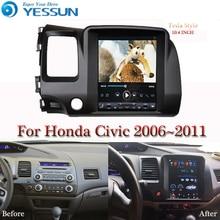 Pantalla Tesla para Honda Civic 2006 2007 2008 2011, reproductor Multimedia para coche, Android, 10,4 pulgadas, Radio Estéreo, Audio, navegación GPS