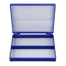 Королевский синий Пластик прямоугольник удерживайте 100 Microslide слайд коробка для микроскопа