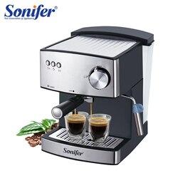 1.6L Espresso Elektrische Koffiemachine Express Elektrische Schuim Koffiezetapparaat Elektrische Melkopschuimer Keukenapparatuur 220V Sonifer