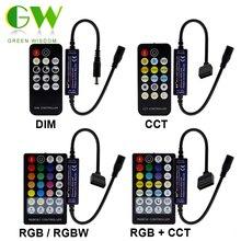 Новое поступление, Светодиодная лента RF control ler с пультом дистанционного управления для одного цвета/двойной белый/RGB/RGBW/RGB+ CCT светодиодные полосы света