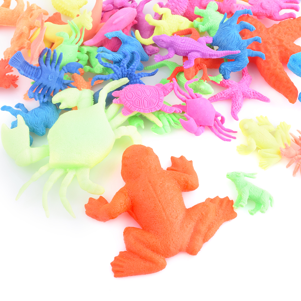 Hydrogel Magic Water Growing Sea Life Land Animals Water Expandable Toys Funny Educational Decoration Kids Bath Education Toys