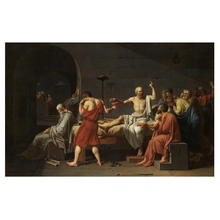 Famous Hand Painted Oil Painting The Death of Socrates Canvas Painting on Canvas Wall Art Picture for Living Room Home Decor yhhp hand painted animal canvas oil painting hair donkey