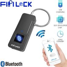 Fipilock Bluetooth Smart Lock Keyless Fingerprint IP65 Waterproof Anti-Theft Security Padlock Door Luggage Case