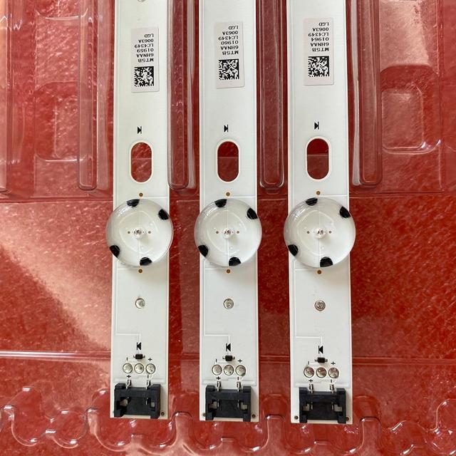 3 قطعة 7LED LED الخلفية قطاع ل LG 43UJ675V 43UK6300PLB 43UJ655V 43LJ510V 43LJ624V 43LJ634V 43UJ651V 43UJ701V 43UJ65_UHD_L A