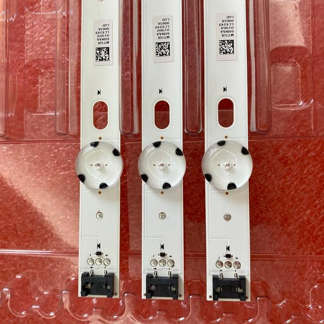 3pcs 7LED LED תאורה אחורית רצועת עבור LG 43UJ675V 43UK6300PLB 43UJ655V 43LJ510V 43LJ624V 43LJ634V 43UJ651V 43UJ701V 43UJ65_UHD_L A