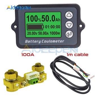 Voltímetro CC 8-80V 100A TK15, probador de batería de coche, medidor de voltaje, Monitor de capacidad de batería, indicador de 12V, 24V, 48V