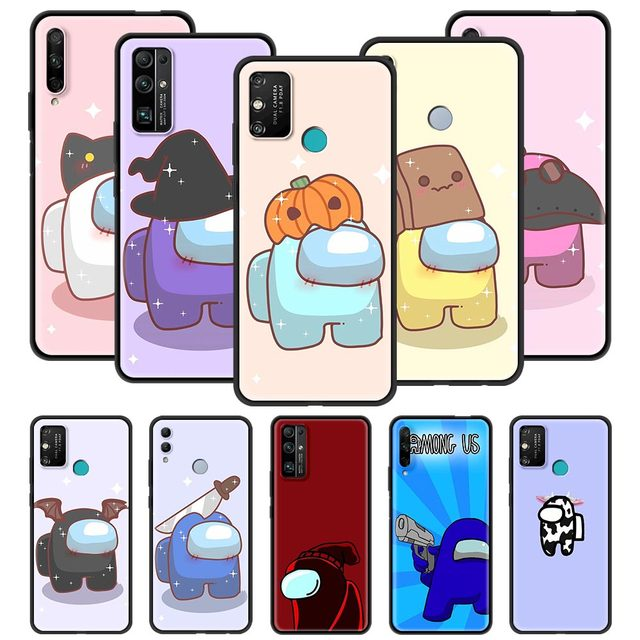 Among Us Top games of 2020 Phone Case For Huawei Honor 20 Pro 30 9X Lite Play 9A 9S 8X 30i X10 Max 5G Youth Silicone Black Cover
