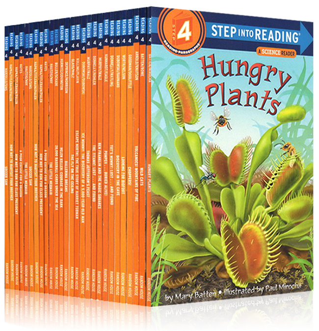 27 Books 4-12 year Children's English Learning textbook early education book english Picture Books Step into Reading grade 4