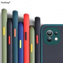 עבור Xiaomi Mi 11 לייט מקרה כיסוי עבור Mi 11 לייט סיליקון מט שקוף מחשב גומי מגן מקרה Silm xiaomi 11 לייט מקרה