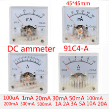 Ammeter Ampere-Tester-Gauge Analog-Current-Panel-Meter 30ma 91C4-A 500ma 5A 10A 3A DC