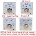 Аналоговый панельный измеритель тока 91C4-A, постоянный ток 50 мА, 1 А, 2 А, 3 А, 5 А, 10 А, 500 мА, 30 мА, Амперметр для испытания цепи, тестер амперы, измер...