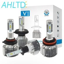 2X 6500K H1 H3 H4 H7 H11 HB3/9005 HB4/9006 COB V1 Headlight Fog Auto Light 72W 8000LM High Low Beam Bulb Automobile Lamp DC 12V стоимость