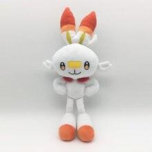 De alta qualidade! 36cm novo anime dos desenhos animados espada e escudo coelho scorbunny grookey sobble recheado brinquedo de pelúcia