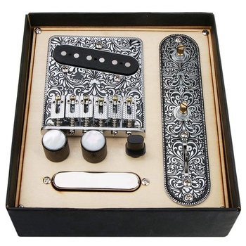 6 Strings Saddle Bridge Plate 3 Way Switch Control Plate Neck Pickup for Fender-s TL Telecaster-s Electric Guitars Replacement devil s bridge