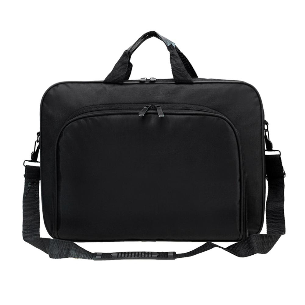 Image 2 - ALLOYSEED Business Laptop Bag Portable Nylon Computer Handbags Zipper Shoulder Simple Laptop Shoulder Handbag Briefcase Black-in Laptop Bags & Cases from Computer & Office