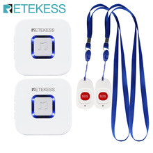 Retekess Caregiver Pager Wireless SOS Call Button Nurse Call Alert Patient Help System for Home Elderly Patient