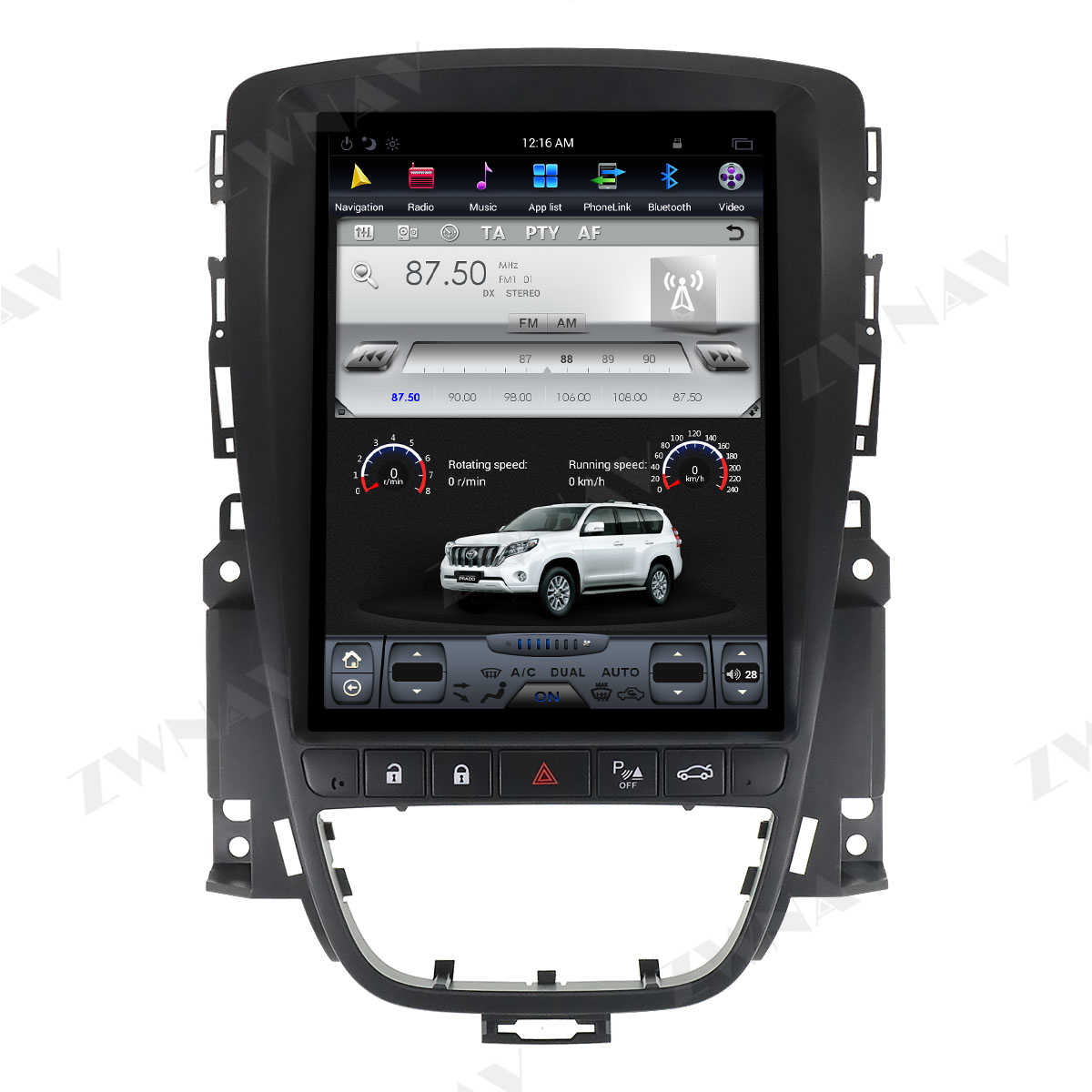 Verticl Tesla Gaya Android 9.0 Car Multimedia Player untuk Opel Vauxhall Holden Astra J 2010-2013 GPS Navi Radio stereo Kepala Unit