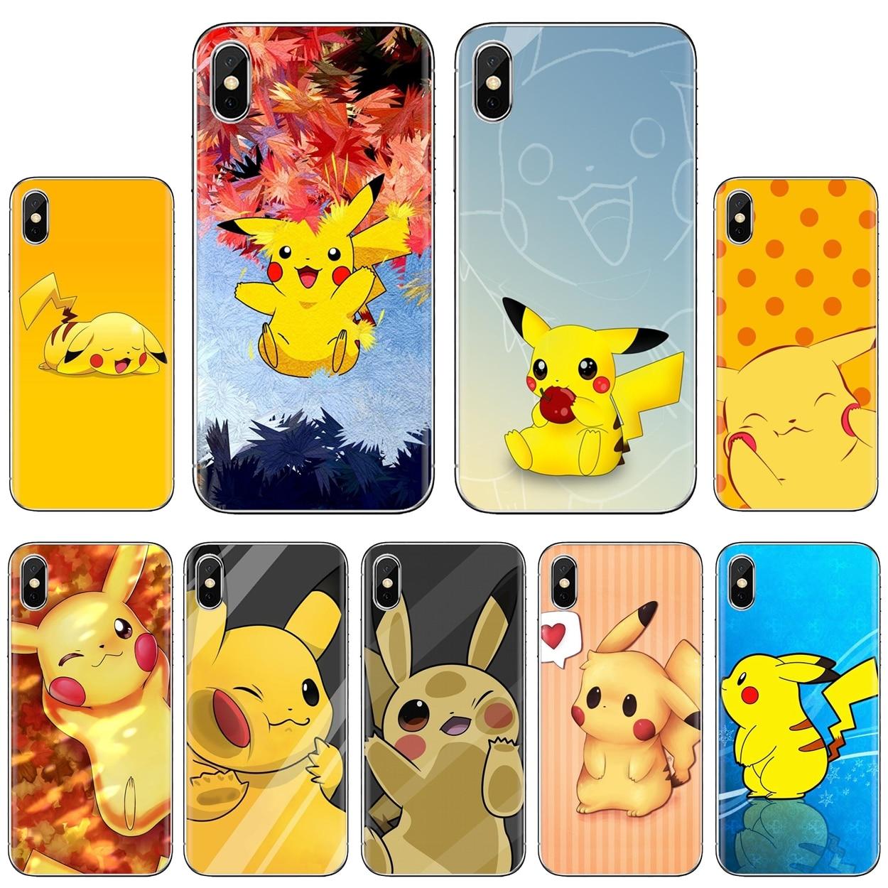 Lovely Cartoon Pikachu Art Japan For LG G2 G3 G4 Mini G5 G6 G7 Q6 Q7 Q8 Q9 V10 V20 V30 X Power 2 3 Spirit Silicone Shell Case
