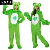 new Kigurumi Green Lucky Bear Onesies Pyjamas Unisex Sleepsuit Adult Pajamas Cosplay Costumes Animal Onesie Sleepwear Jumpsuit