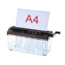 """A4 """" бумажный шредер измельченная бумага ручной шредер бумаги Document файл ручной работы прямая машина для резки для школы офиса"""