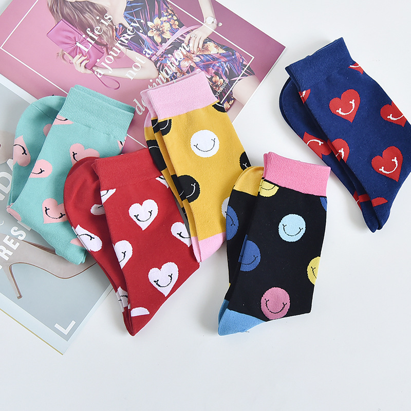Autumn fashion street Harajuku style fun socks unisex fancy fruit animal art man cotton socks cute happy woman long socks meias 5