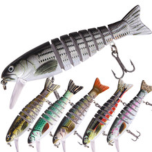 1pc Multi Jointed Sections Swimbait Wobblers Pike Fishing Lures Artificial Hard Bait Trolling Sharp Hooks Carp Fishing
