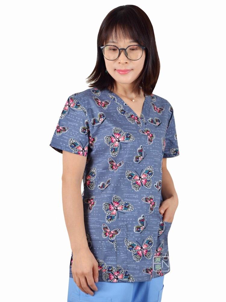 Image 3 - Hennar scrub tops in 100% cotton ,women scrub tops,women medical uniformsscrub topwomens medical uniformsmedical uniforms -
