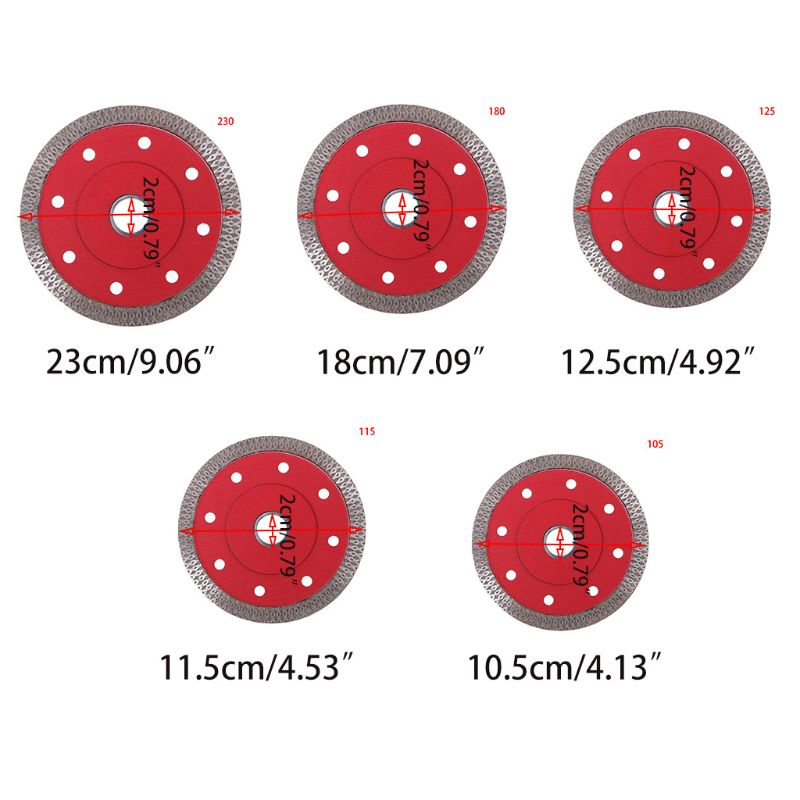 105/115/125/180/230mm Diamond Ceramic Circular Red Disc Saw Blade Porcelain Cutting Blade For Cutting Tiles Metal-cutting Chop