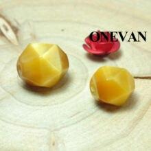 Onevan натурального Золотой Тигровый глаз алмазные режущие граненые
