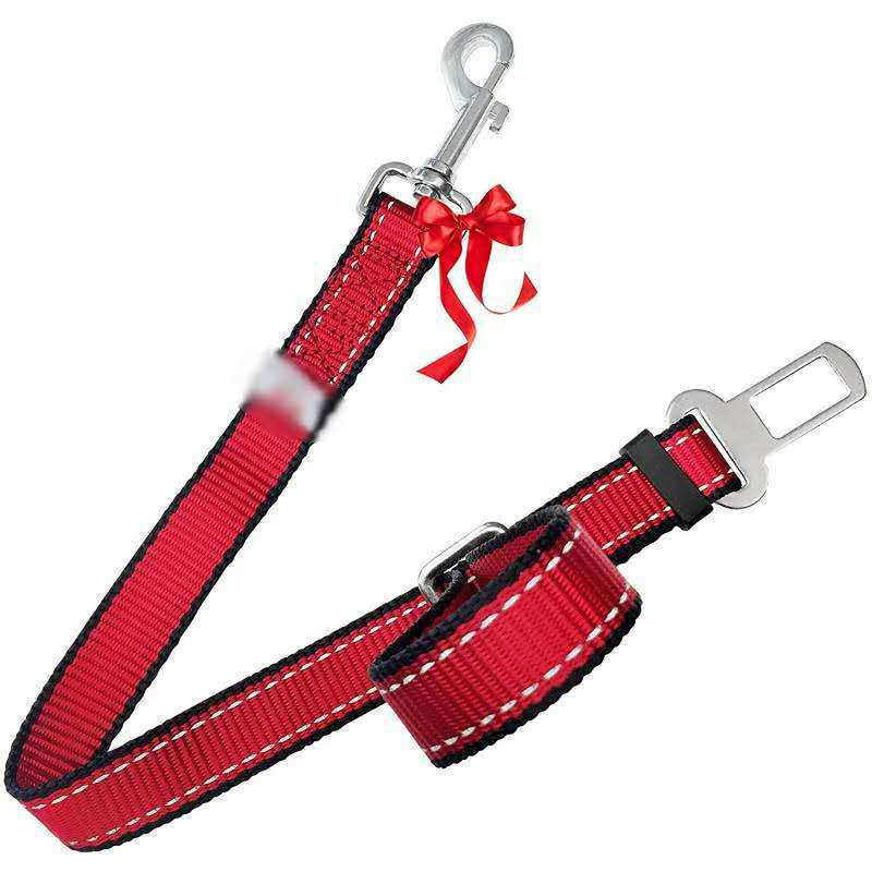 High Quality Dog Pet Traction Rope 2.5 Cm Reflective Yarn Nylon Car Pet Seat Belt