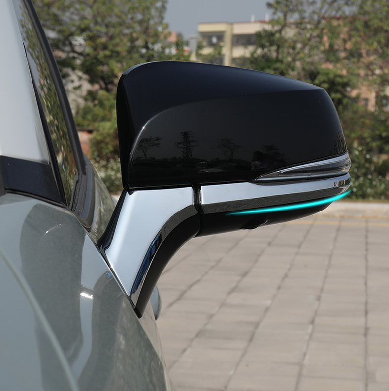 4Pcs high quality car accessory ABS Rear View Side Mirror Decorative Trim For Toyota RAV4 2019 2020
