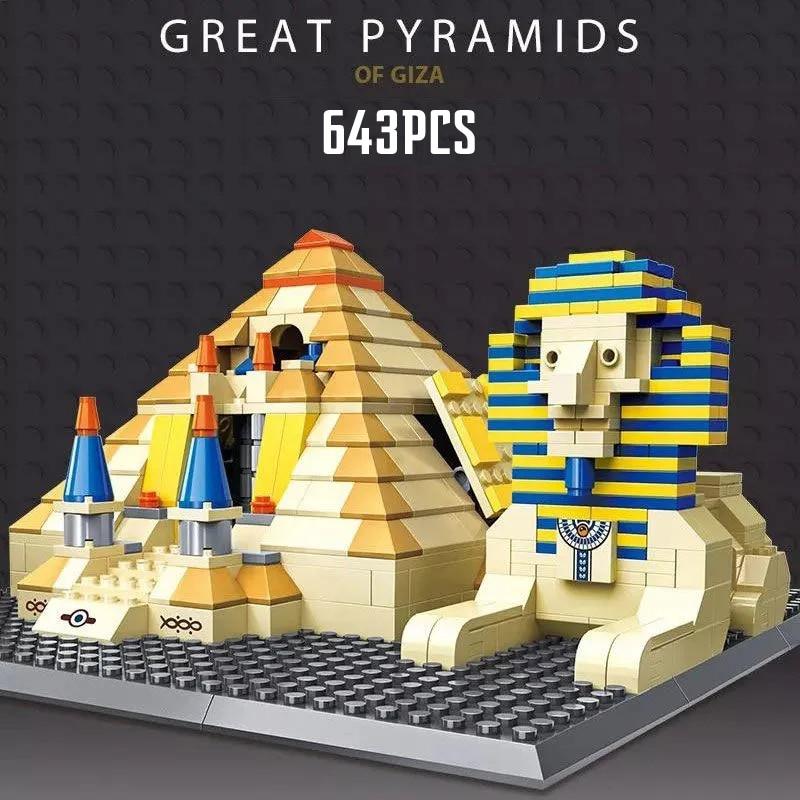 NEW Creator City series Pyramid Model Building Blocks Bricks Kits Assembly Game Toys Kids Birthday Gifts Boy