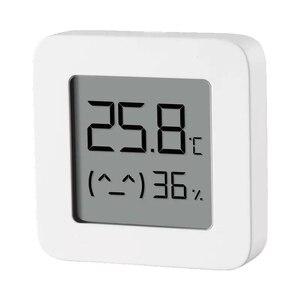 Image 3 - HOT Auf Lager Original Xiaomi Mijia MiaoMiaoCe BT 4,0 Wireless Smart Elektrische Digitale Indoor & Outdoor Hygrometer Therometer Uhr