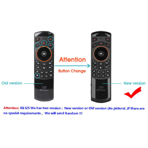 Image 5 - Rii Mini i25A 2.4G Wireless Fly Air mouse Russian English Hebrew Keyboard Rii i25 Remote For Android TV Remote TV BOX