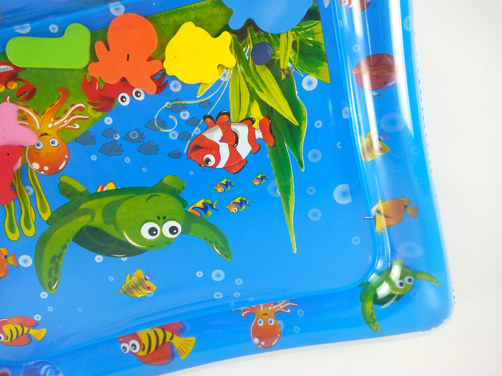 H5f64942859444c7685d2d2fc40c56f0eg 36 Designs Baby Kids Water Play Mat Inflatable PVC Infant Tummy Time Playmat Toddler Water Pad For Baby Fun Activity Play Center
