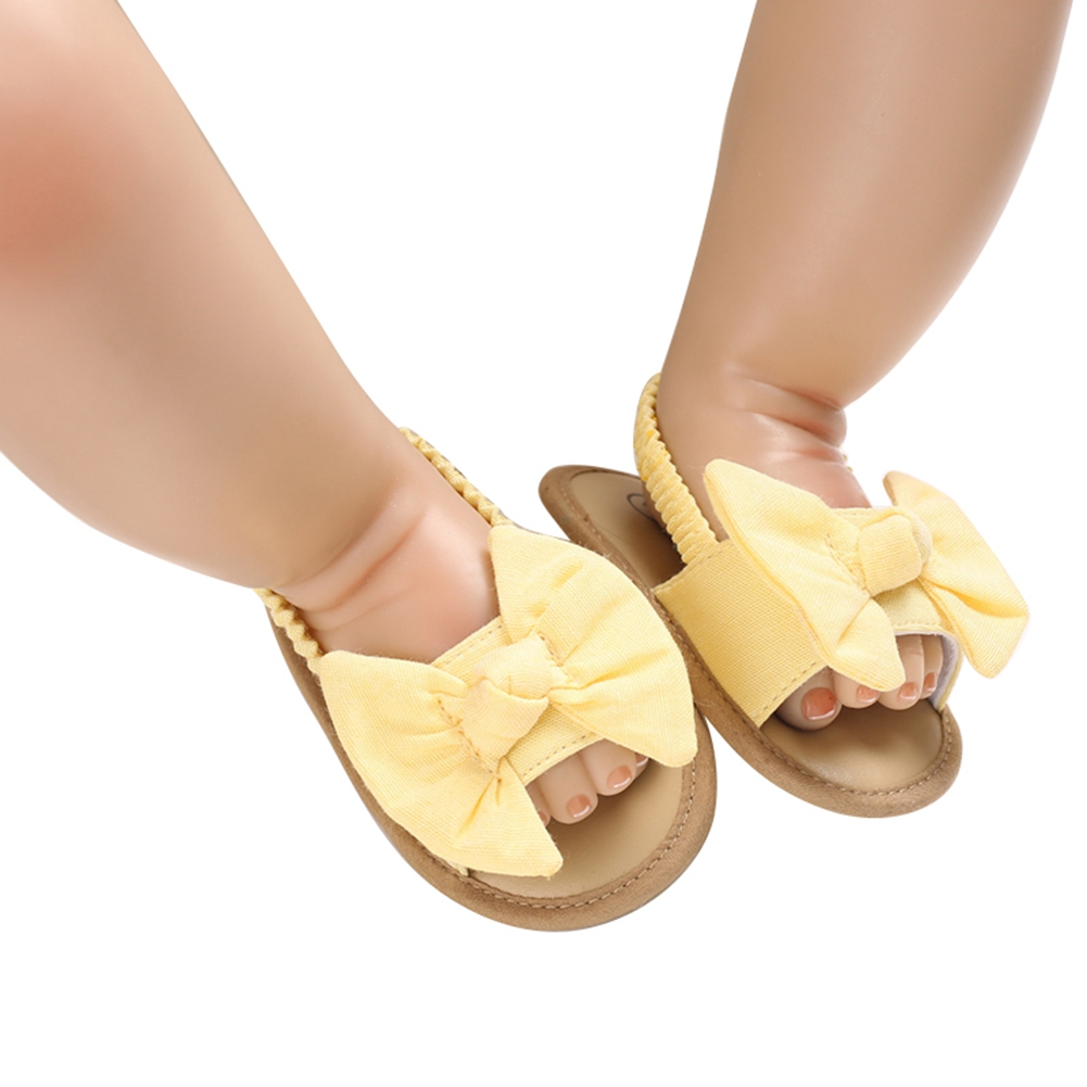 2020 Baby Girls Bow Knot Sandals Cute Summer Soft Sole Flat Princess Shoes Infant Non-Slip First Walkers 4