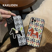 Fashion Cute pony Printed Phone Case For iphone 12 mini 11 Pro Max 7 8 plus X XR XS Max SE 2020 Soft Cover Relief Cartoon Cases