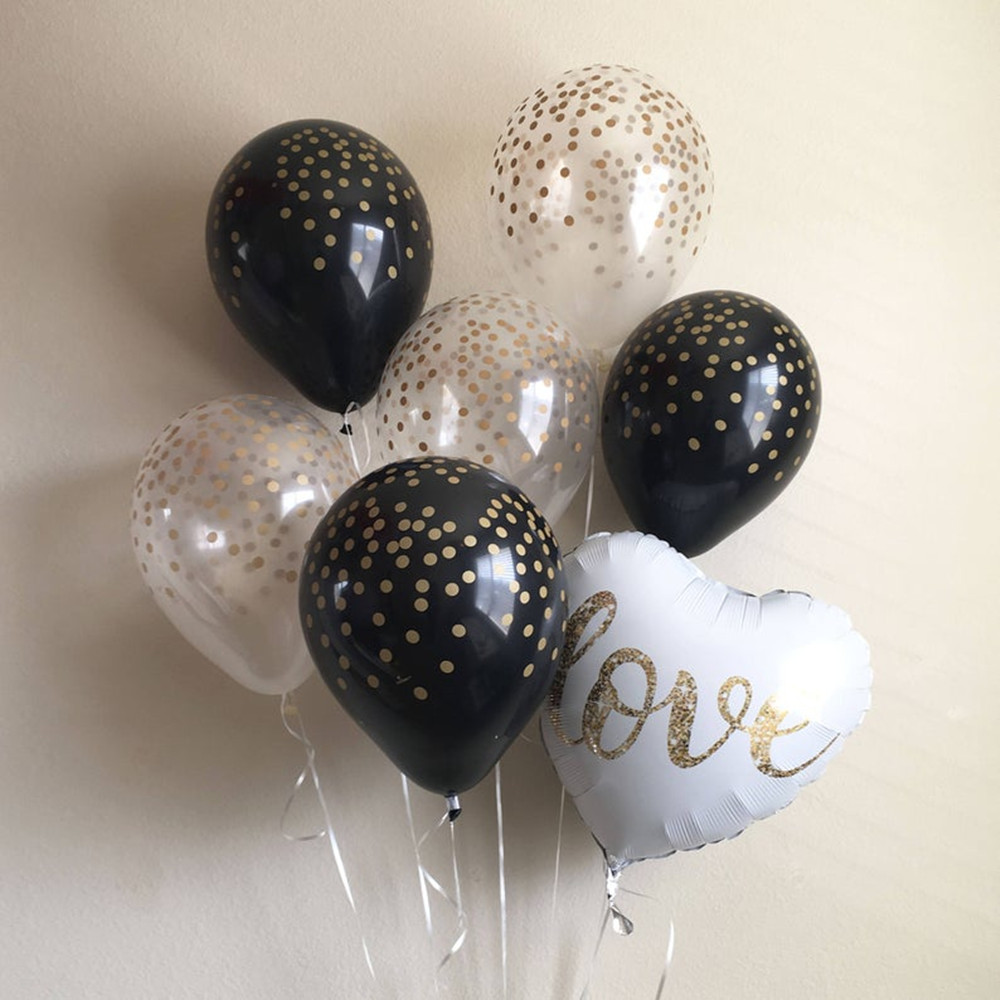 18inch Round White Gold Glitter Print Mr&Mrs LOVE foil Balloons bride to be marriage Wedding Valentine's Day Air Globos Supplies 5