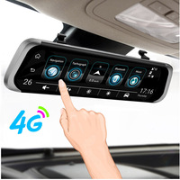 ANSTAR f800 Car DVR 4G Android 5.1 GPS WIFI ADAS Auto Camera 10 Rearview Mirror HD 1080P Dash Cam Recorder Registrar DVRs