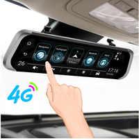 "ANSTAR f800 Car DVR 4G Android 5.1 GPS WIFI ADAS Auto Camera 10"" Rearview Mirror HD 1080P Dash Cam Recorder Registrar DVRs"