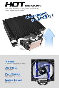 Image 5 - AIGO E3 4 Heatpipes מעבד למעבד עבור AMD אינטל 775 1150 1151 1155 1156 מעבד רדיאטור 120mm 4pin קירור מעבד מאוורר מחשב שקט