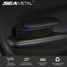 Car Armrest Storage Box Door Handle Elbow Support PU Leather Auto Organizer Arm Rest Case for Stuffs Car Styling Accessories