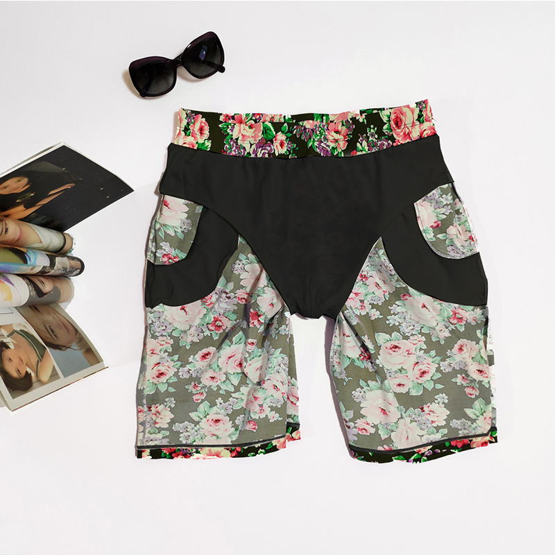 Beach Shorts Men's Loose-Fit Set 2019 New Style Seaside Holiday Swimming Trunks Trend Men Bubble Hot Spring Flower Shorts